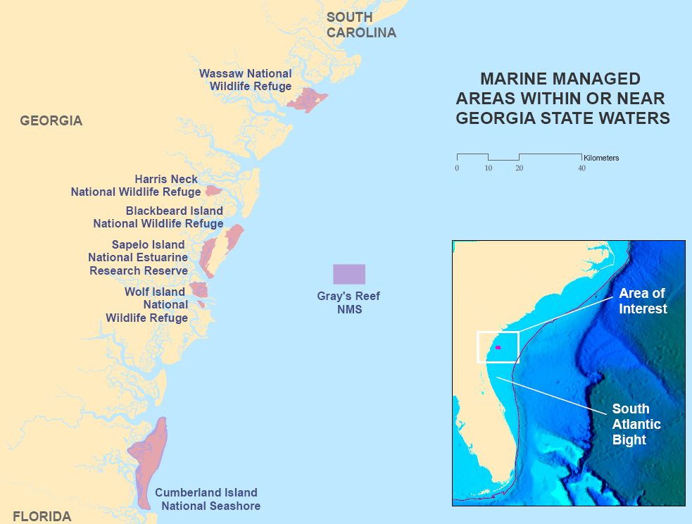 Gray's Reef Proposed Research Area | Reef Environmental ...