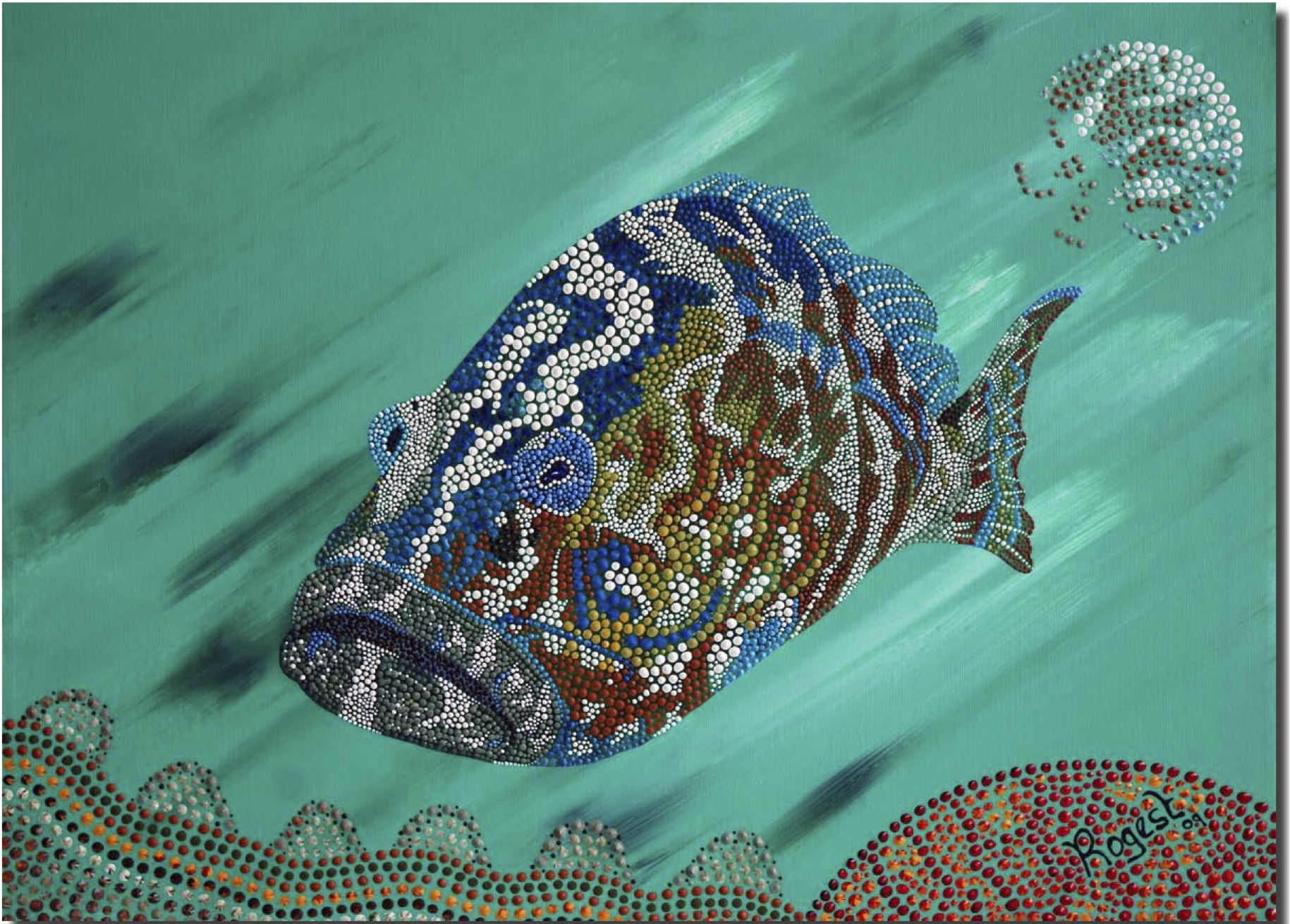 famous fish painting