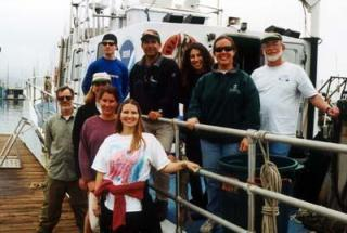 REEF Team on the CINMS boat the R/V Ballena.