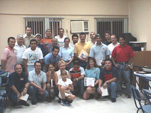 The Veracruz training workshop participants.