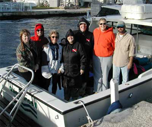 Members of REEF's Advanced Assessment Team before heading out for one of the winter surveys.