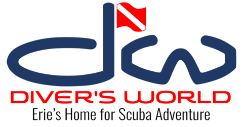 Divers World of Erie Logo