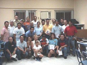 The Veracruz training workshop participants.